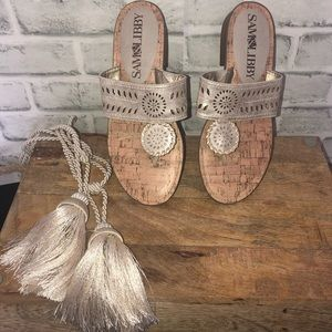 Sam and Libby Tibby Whipstitch Sandals Tan Size 8